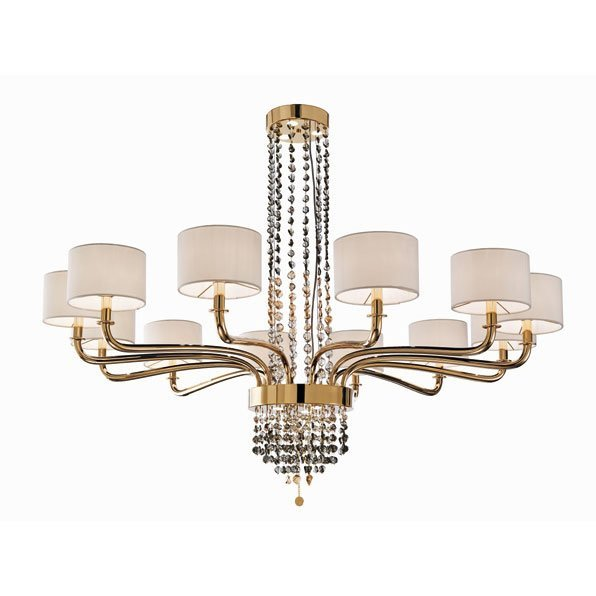 Потолочная люстра Beby Group Butterfly 0191B01 Light gold 624 SW Silver Night